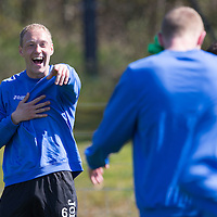 St Johnstone Training...24.04.15<br /> Steven Anderson pictured in training this morning at McDiarmid Park ahead of tomorrow's game at Dundee<br /> Picture by Graeme Hart.<br /> Copyright Perthshire Picture Agency<br /> Tel: 01738 623350  Mobile: 07990 594431