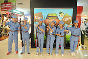 "TAIYUAN, CHINA - JULY 28: (CHINA OUT) <br /> <br /> Mall employees reenact WWII executions of Japanese soldiers to promote sales<br /> <br /> A shopping mall in Taiyuan, Shanxi Province sparked controversy and confusion when they had their workers don ""Eight Route Army"" uniforms and reenact WWII executions of Japanese soldiers to promote sales. According to the manager, the mall started this ""anti-Japanese themed"" promotion during the anniversary of the Japanese invasion of China on July 7th, to allow customers to reminisce/sell clothes. Because apparently not even sensitive chapters of history are off-limits when it comes to facilitating consumer spending. Not to mention that it makes about as much sense as Wal-Mart reenacting Omaha Beach in the furniture aisle to spur sales of bean bag chairs.<br /> This might be even worse than the time Harbin installed Japanese soldier urinals to ""promote pissing."" <br /> ©Exclusivepix"