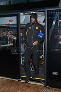 Fikayo Tomori of Hull City arrives at Ewood Park, Blackburn ahead of during the FA Cup match between Blackburn Rovers and Hull City<br /> Picture by Matt Wilkinson/Focus Images Ltd 07814 960751<br /> 06/01/2018
