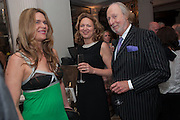 CELIA WALDEN; JESSICA FELLOWES; ED VICTOR, Juliet Nicolson - book launch party for  her latest novel Abdication, about British society after the death of George V.  The Gallery at The Westbury, 37 Conduit Street, Mayfair, London, 12 June 2012