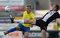 Photo: Paul Thomas.<br /> Grimsby Town v Hereford United. Coca Cola League 2. 08/10/2006.<br /> <br /> Alan Connell (L) of Hereford and Ricky Ravenhill.