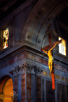 """Celestial light illuminates the crucifix - Cathedral of Sorrento""…<br />