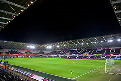 SWANSEA, WALES - Monday, January 22, 2018: A general view of the Liberty Stadium before the FA Premier League match between Swansea City FC and Liverpool FC. (Pic by David Rawcliffe/Propaganda)