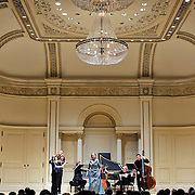 November 15, 2011 - Manhattan, NY : The Theatre of Early Music, including soprano Deborah York, standing foreground center, performs works by George Frideric Handel in the Joan and Sanford I. Weill Recital Hall at Carnegie Hall on Tuesday night. CREDIT: Karsten Moran for The New York Times