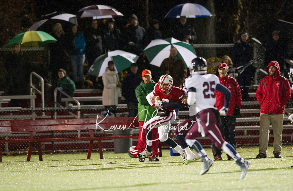 St Paul's School varsity Football with Belmont Hills.  ©2014 Karen Bobotas Photographer