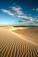 ripples of sand dune of cumbuco near fortaleza in ceara state brazil