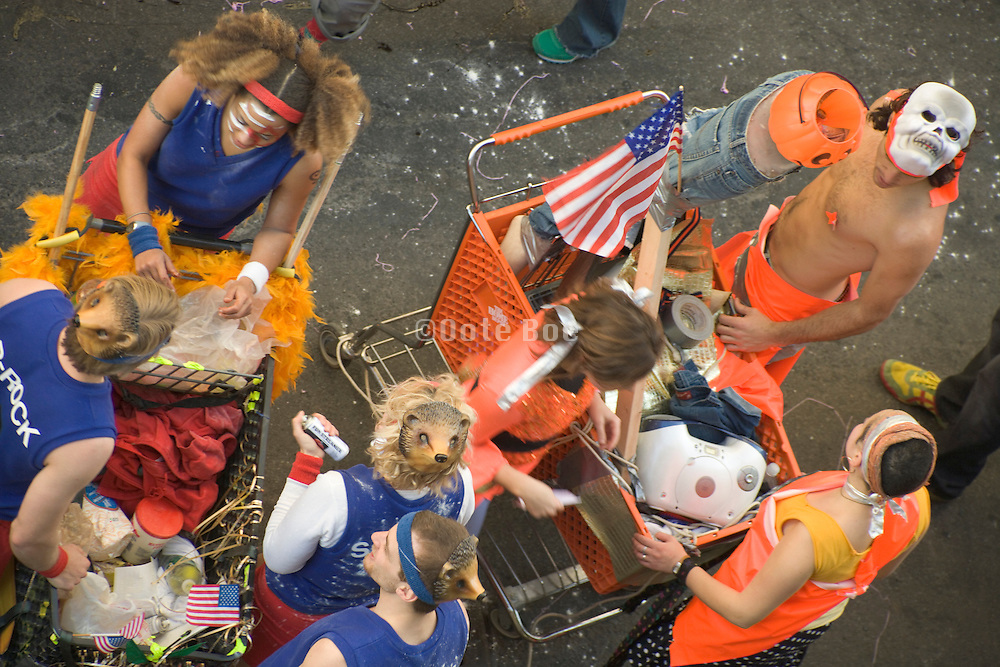 youth having fun at a carnivalesque parade