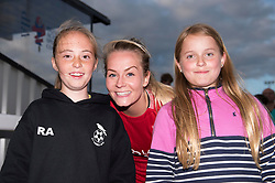 Lily Agg of Bristol City Women poses with supporters - Mandatory by-line: Paul Knight/JMP - 20/05/2017 - FOOTBALL - Stoke Gifford Stadium - Bristol, England - Bristol City Women v Liverpool Ladies - FA Women's Super League Spring Series