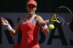 May 23, 2019 - Paris, France - Bernadda Pera of USA hits a return during her women's singles against Zhang Kai-Lin of China in the second round of the qualifications of Roland Garros, in Paris, France, on 23 May 2019. (Credit Image: © Ibrahim Ezzat/NurPhoto via ZUMA Press)