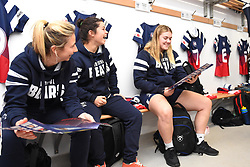 Macenzie Carson of Bristol Bears Women discovers that she's featured in the matchday programme - Mandatory by-line: Paul Knight/JMP - 01/12/2018 - RUGBY - Shaftesbury Park - Bristol, England - Bristol Bears Women v Harlequins Ladies - Tyrrells Premier 15s