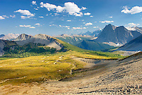 View of the northern section of the Rockwall looking south from Goodsir Pass, Kootenay National Park British Columbia Canada