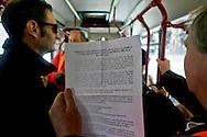 Roma 3 Marzo 2015<br /> Oggi nel centro storico di Roma, il  Comitato disoccupati per il lavoro minimo garantito, ha venduto biglietti dell'ATAC, alle fermate degli autobus,per chiedere di mettere bigliettai sui mezzi pubblici, visto anche il calo del 60% delle vendite dei biglietti nel mese di febbraio. Il beneficio per azienda sarebbe un aumento della vendita dei  biglietti, e un aiuto ai disoccupati.<br /> Rome, March 3, 2015<br /> Today in the historic center of Rome, the Committee for the unemployed job guaranteed minimum, sold tickets ATAC,(Tramways Company and Coach of the Municipality of Rome), at bus stops, to ask to put collected fares  on public transport, given the 60% drop in ticket sales in the month February. The benefit to the company would be an increase in ticket sales, and an aid to the unemployed.