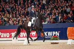 Van Silfhout Diederik, NED, Hometown<br /> KWPN Stallionshow - 's Hertogenbosch 2018<br /> © Hippo Foto - Dirk Caremans<br /> 02/02/2018