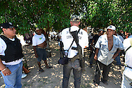 Self-defense forces in the town of El Aguaje in Michoacan. Locals in at least a dozen towns have joined forces to fight the brutal Knights Templar drug gang. At first armed only with shotguns and even slingshots, the groups now have AK-47s, bullet proof vests and armored trucks they said they have seized from the fleeing cartel.