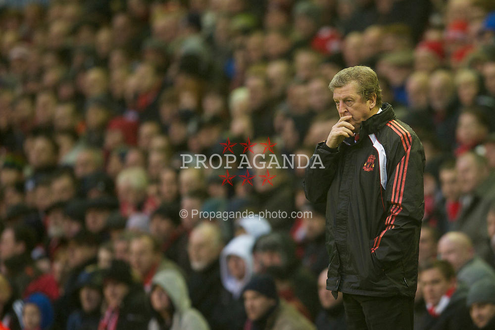 LIVERPOOL, ENGLAND - Saturday, January 1, 2011: Liverpool's manager Roy Hodgson during the Premiership match against Bolton Wanderers at Anfield. (Photo by: David Rawcliffe/Propaganda)