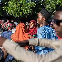 Traditional weeding in a street in Maiduguri.