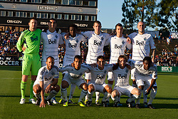 July 20, 2011; Santa Clara, CA, USA;  The Vancouver Whitecaps are introduced before the game against the San Jose Earthquakes at Buck Shaw Stadium. San Jose and Vancouver tied 2-2.