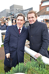 Left to right, ROB BRYDON and A P McCOY at the 2015 Hennessy Gold Cup held at Newbury Racecourse, Berkshire on 28th November 2015.