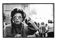 Proteste contro il summit del G8, Genova luglio 2001. Venerdì 20 luglio, corteo dei Disobbedienti. Cariche. Via Invrea (tra Corso Torino e via Tolemaide).