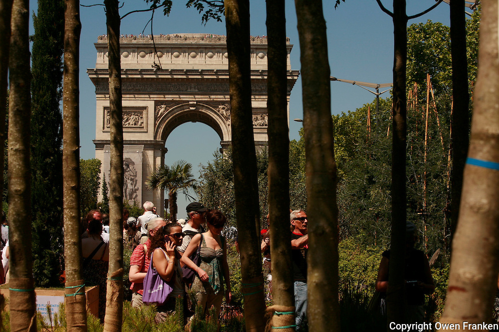 Agriculturalists put plants on the Champs Elysees...Photograph by Owen Franken .