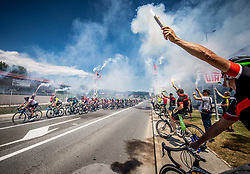 Peloton waved by supporters in Sentjur during 2nd Stage of 26th Tour of Slovenia 2019 cycling race between Maribor and Celje (146,3 km), on June 20, 2019 in  Slovenia. Photo by Vid Ponikvar / Sportida