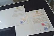 Openstelling Paleis Noordeinde en het Koninklijk Staldepartement<br /> <br /> Op de foto:  Tentoonstelling over de overhandiging van de geloofsbrieven aan de ambassadeurs