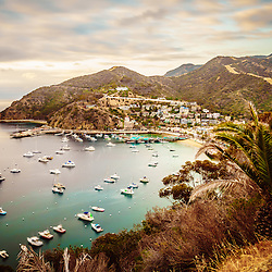 Catalina Island Avalon Bay picture. Catalina Island is a popular travel destination off the coast of Southern California in the United States.