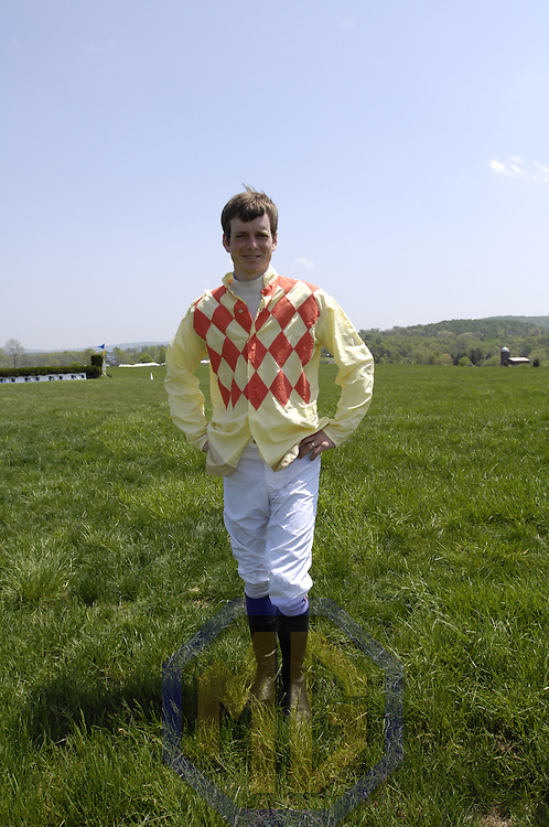 03 May 2008:  Jeff Murphy prepares to run in the 5th race of the 83rd running of the Virginia Gold Cup Races on October 20, 2007 at the Great Meadow in The Plains, Va..