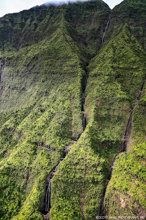 Waialeale waterfall, Kauai, Hawaii