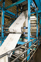 Newspaper production and printing process