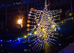 05.08.2016, Maracana, Rio de Janeiro, BRA, Rio 2016, Olympische Sommerspiele, Eröffnung der XXXI. Olympiade, im Bild Olympische Feuer // Olympic flame during the Opening Ceremony of the Rio XXXI 2016 Olympic Summer Games at the Maracana in Rio de Janeiro, Brazil on 2016/08/05. EXPA Pictures © 2016, PhotoCredit: EXPA/ Johann Groder