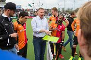 Eindhoven - Oranje Rood - Bloemendaal  Heren, Hoofdklasse Hockey Heren, Seizoen 2017-2018, 15-04-2018, Oranje Rood - Bloemendaal 1-1,  assistent coach Roger van Gent<br /> <br /> (c) Willem Vernes Fotografie