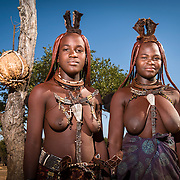 Himba women in a village near Kamanjab