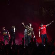 Imagine Dragons band playing the Evolve Tour at Amway Arena in Orlando, Florida on November 10, 2017. (Photo Alex Melendez)