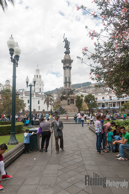 Plaza de la Independencia (Plaza Grande) is the principal public square of Quito, Ecuador.