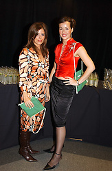 Left to right, MISS ISABEL SPEARMAN and LADY ROSE INNES-KER daughter of the 10th Duke of Roxburghe at the Macmillan Cancer Relief Celebrity Christmas Stocking Auction held at Christie's, South Kensington, London on 8th December 2004.<br /><br />NON EXCLUSIVE - WORLD RIGHTS
