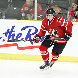 COBOURG, - Dec 13, 2015 -  Game #1 - Czech Republic vs Canada West at the 2015 World Junior A Challenge at the Cobourg Community Centre, ON. Troy Van Tetering #20 of Team Canada West pursues the play during the first period.(Photo: Tim Bates / OJHL Images)