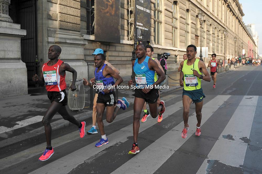 Kiptum Pace / Ndemi Pace - 12.04.2015 - Marathon de Paris 2015<br />Photo :  Andre Ferreira  / Icon Sport