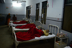 November 20, 2016 - Pukhrayan, Kanpur, India - victims of Train accident , admitted with her sister in district hospital, some 60 kms from Kanpur, on November 20,2016. Indore Patna express train derailed on sunday's early morning. more than 200 people died and several injured, according to officials. (Credit Image: © Ritesh Shukla/NurPhoto via ZUMA Press)