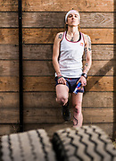 Alex Roudayna, Chikorita, posses for a portrait in obstacle race track at Ectagono fitness center in Mexico City on February 16, 2017