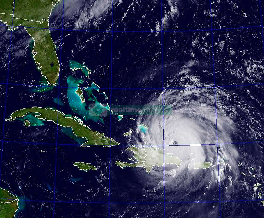 Sep 7, 2017 - Atlantic Ocean - A GOES satellite image taken Sept. 7, 2017 at 8:45 a.m. EST shows Hurricane Irma in the Atlantic Ocean. Hurricane Irma is currently a category 5 hurricane with sustained winds of more than 180 mph and is moving west-northwest at 17 mph. Irma will arrive in southern Florida this weekend likely as a Category 4 but its exact path is unclear.  (Credit Image: © U.S. Navy via ZUMA Wire)