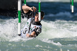 Gregorz HEDWIG of Poland during the Canoe Single (C1) Men SemiFinal race of 2019 ICF Canoe Slalom World Cup 4, on June 28, 2019 in Tacen, Ljubljana, Slovenia. Photo by Sasa Pahic Szabo / Sportida