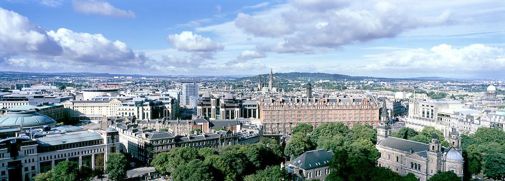 View overlooking Edinburgh's financial district