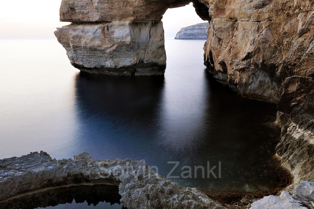 Rock formation (Azur Window) at Blue Hole, Blue Window, Dwejra, Gozo