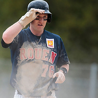 25 April 2010: Aaron Hornostaj of Rouen is seen during game 2/week 3 of the French Elite season won 12-0 by Rouen over the PUC, at the Pershing Stadium in Vincennes, near Paris, France.