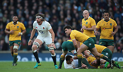 December 4, 2016 - London, England, United Kingdom - L-R England's Tom Wood and Australia's Nick Phipps during Old Wealth Series match between England against Australia at Twickenham stadium , London, Britain - 03 December 2016  (Credit Image: © Kieran Galvin/NurPhoto via ZUMA Press)