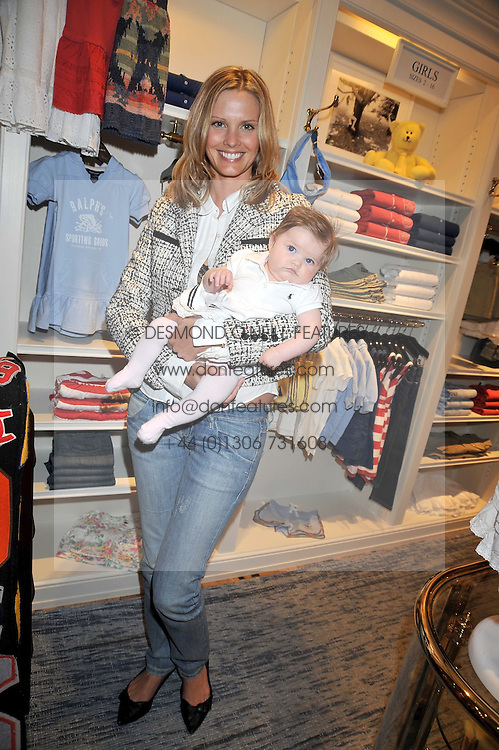 MALIN JEFFERIES and her daughter COCO at 'Paint Your Polo Celebration' a children's party in aid of the charity Clic Sargent held at Ralph Lauren, 139/141 Fulham Road, London on 28th April 2009.