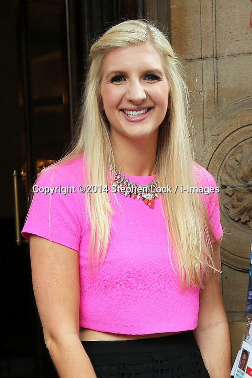 Image licensed to i-Images Picture Agency. 26/07/2014. Glasgow, United Kingdom. Swimmer Rebecca Adlington out and about in Glasgow  on day three of the Commonwealth Games.  Picture by Stephen Lock / i-Images