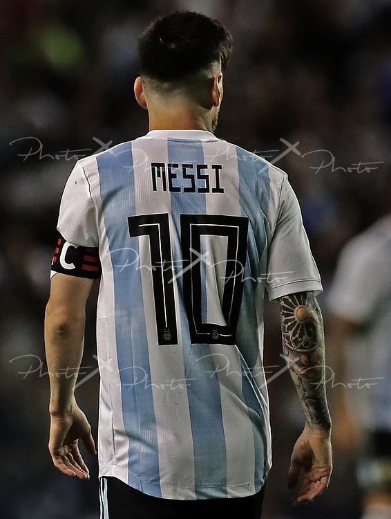 Argentina's Lionel Messi walks during the international friendly football match against Haiti at Boca Juniors' stadium La Bombonera in Buenos Aires, on May 29, 2018. (Alejandro PAGNI / PHOTOXPHOTO)