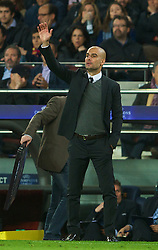 BARCELONA, SPAIN - Tuesday, April 24, 2012: FC Barcelona's head coach Josep Guardiola during the UEFA Champions League Semi-Final 2nd Leg match against Chelsea at the Camp Nou. (Pic by David Rawcliffe/Propaganda)